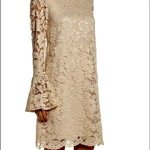 Bell Sleeve Lace Shift Dress BETSEY JOHNSON